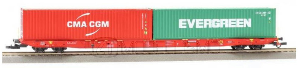IGRA 96010046 - Pianale Sggnss RailCargo con due container - H0