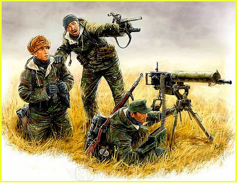 MasterBox 3526 - German maschinegun item. Eastern front, Kurland, 1944 - 1:35