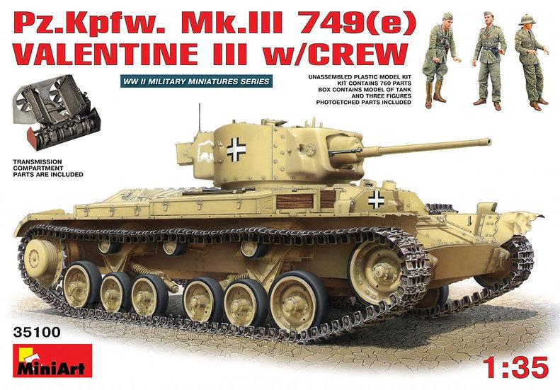 MiniArt 35100 - Pz.Kpfw. Mk.III 749(e) VALENTINE III w/CREW - 1:35
