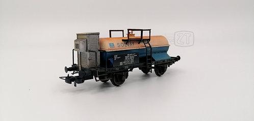 """2TBS58 - Cisterna Zkk """"SOLVAY"""" con garitta, invecchiata, FS - H0"""