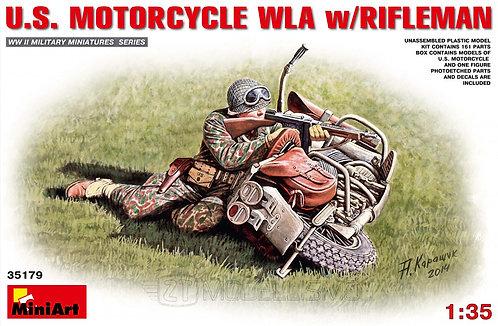 MiniArt 35179 - U.S. MOTORCYCLE WLA w/RIFLEMAN - 1:35