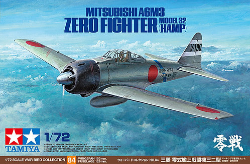 Tamiya 60784 - A6M3 ZERO Model 32 Hamp - 1:72