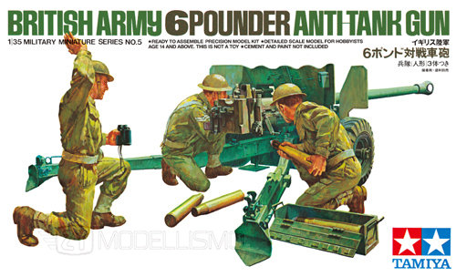 Tamiya 35005 - ANTICARRO GB 6 POUNDER - 1:35
