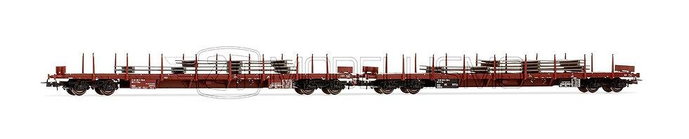Rivarossi HR6424 - Set di due carri pianali RGS - H0