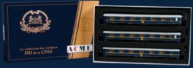 ACME 55200 - Set di 3 carrozze di Tipo MU - H0