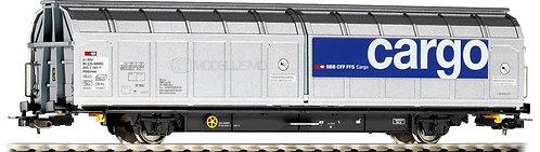 Piko 54509 - 2 Carro cargo con pareti scorrevoli, Hbbinss, SBB - H0
