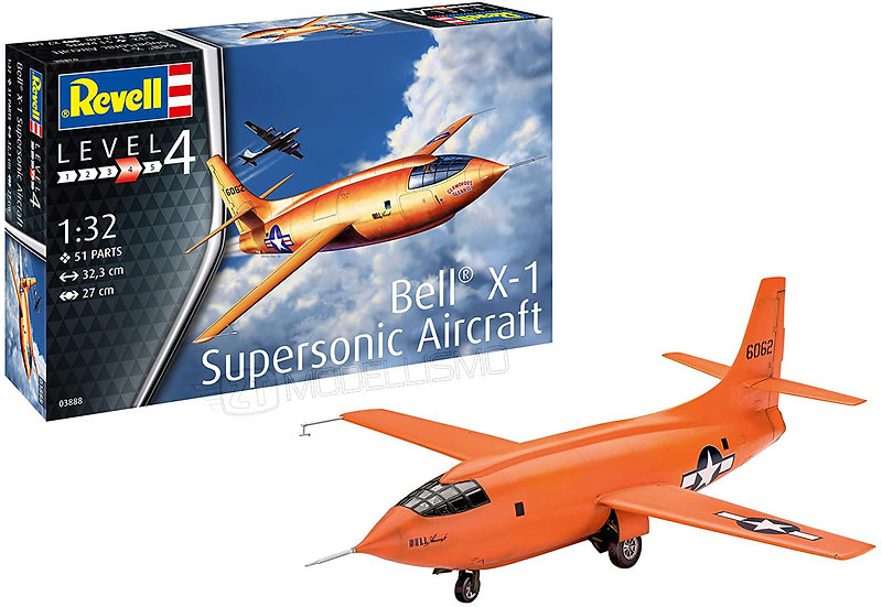 Revell 03888 - Bell X-1 Supersonic Aircraft - 1:72
