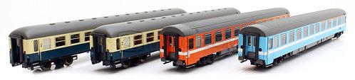 ACME 55182 - Set di quattro carrozze passeggeri, Eurofima, UIC-X DB, FS - H0
