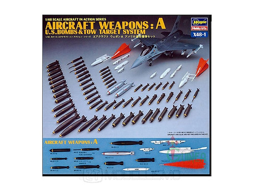 Hasegawa 36001 - Aircraft weapons: A U.S.Bombs & tow target system - 1:48