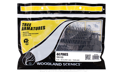 Woodland scenics TR1125 - Tree armatures, 44 pines