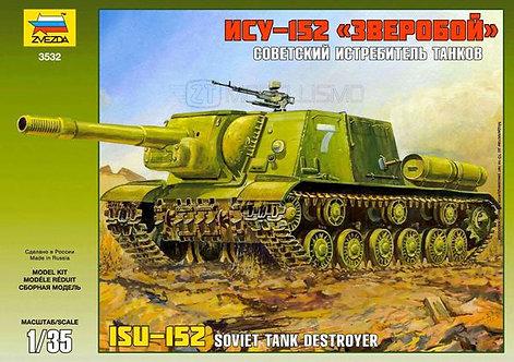 Zvezda 3532 - ISU-152 Soviet Tank Destroyer - 1:35