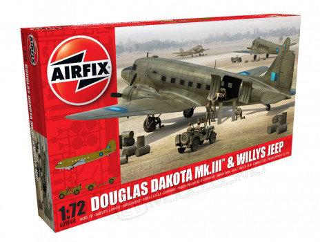 Airfix A09008 - Douglas Dakota Mk.III & Willys Jeep - 1:72