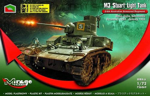 "Mirage Hobby 726069 - M3 ""Stuart"" Light Tank - 1:72"