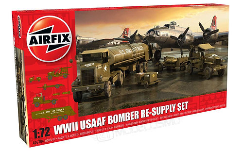 Airfix A06304 - WWII Usaaf Bomber Re-Supply Set - 1:72