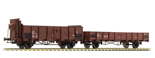 ACME 45100 - Set di 2 carri a sponde di cui uno con garitta, FS - H0