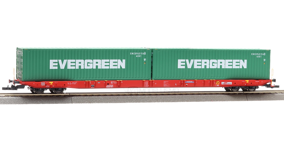 "IGRA 96010048 - Pianale Sggnss con due container ""Evergreen"" - H0"
