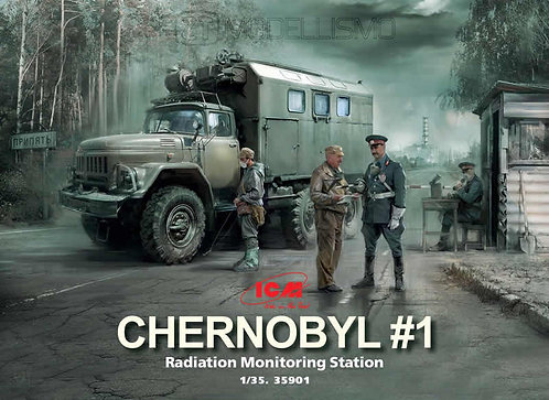 ICM 35901  - Radiation monitoring station. Chernobyl #1  - 1:35