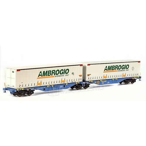 "B-models 59.301 - Sggmrss 90' I-AMBR con due container 45"" ""Ambrogio"" - H0"