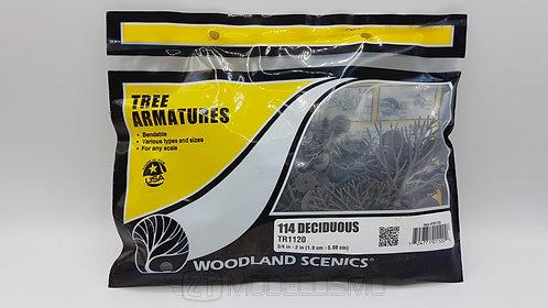 Woodland scenics TR1120 - Tree armatures, 114 deciduous