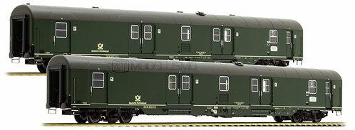 L.S. Models 46302 - Set di 2 bagagliai postali DB tipo 1978