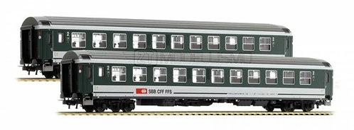 L.S. Models 47277 - Set due carrozze UIC-X Bpm RIC 2°cl. SBB