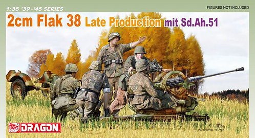 Dragon 6546 - 2cm FlaK 38 Late Production - 1:35