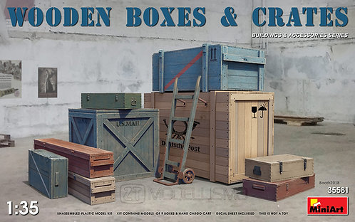 MiniArt 35581 - Wooden boxes and crates - 1:35