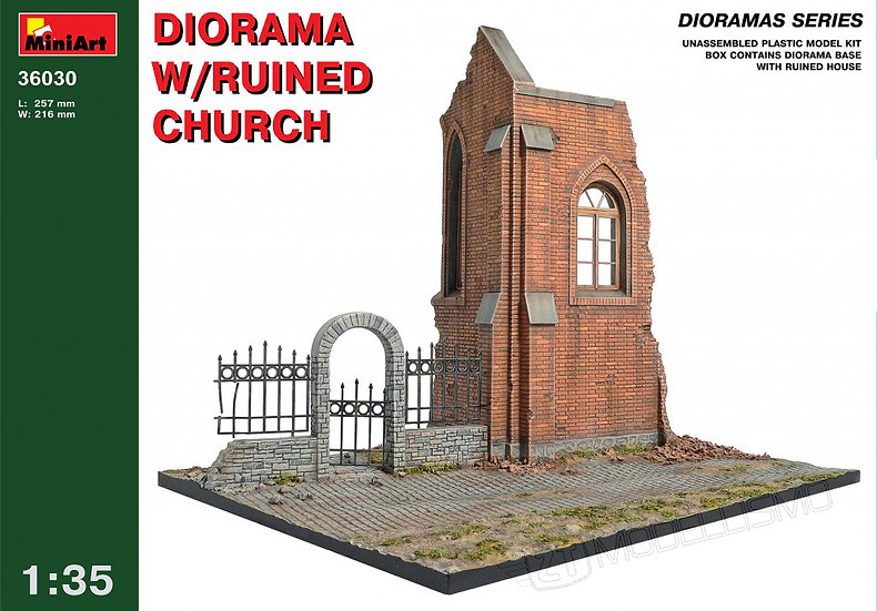 MiniArt 36030 - Ruined Church - 1:35
