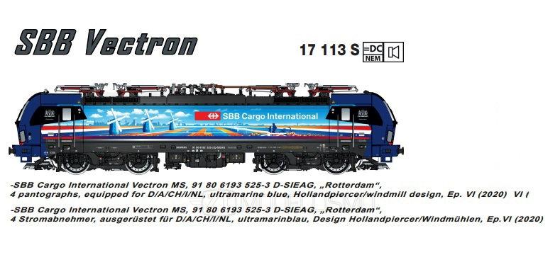"L.S. Model 17113S - Vectron 193 SBB Cargo International ""Rotterdam"", DCCSound-H0"