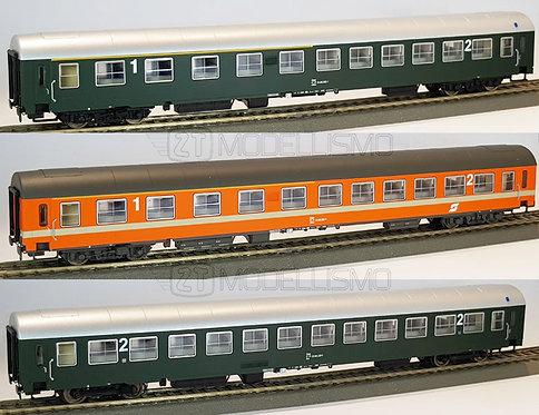 PI 90306 - Set 3 carrozze ÖBB tipo UIC-X - H0
