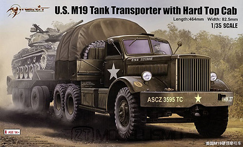 Merit 63501 - U.S. M19 TankTransporter with Hard Top Cab - 1:35