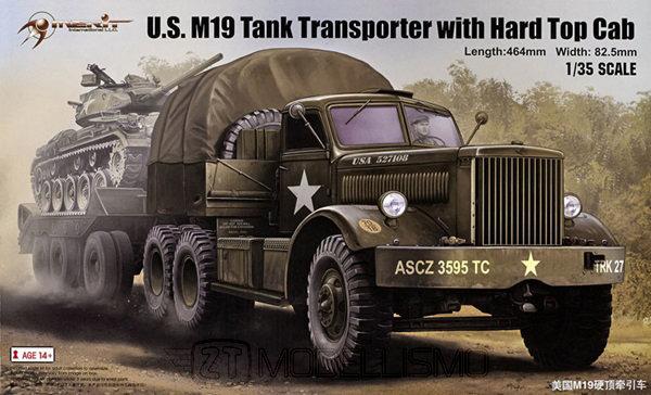 Merit 63501 - U.S. M19 TankTransporter with Hard Top Cab - 1:35