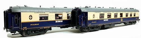 """PI 99108 - Set CIWL WP + WPc per R30/33, """"Treno Azzurro"""", 1962"""