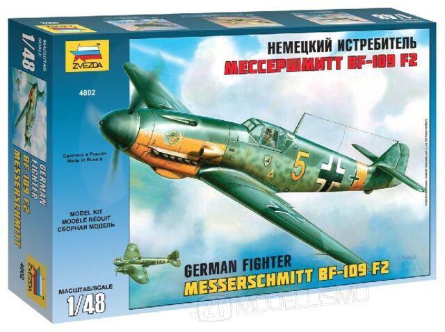 Zvezda 4802 -  Messerschmitt Bf-109 F2 - 1:48