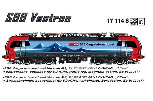 "L.S. Model 17114S - Vectron 193 SBB Cargo International ""Olten"", DCC Sound - H0"