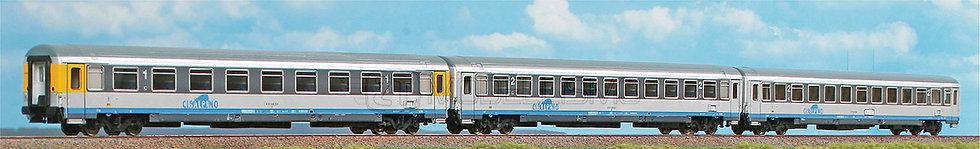 ACME 55230 - Set di 3 carrozze tipo UIC-Z - H0