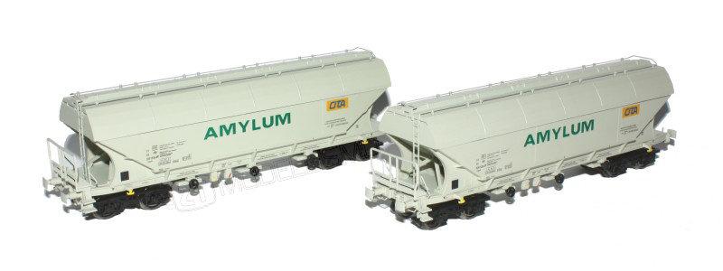 "B-models 45312 - Set due carri Uapps, SNCB ""Amylum - Cita"", Set A - H0"