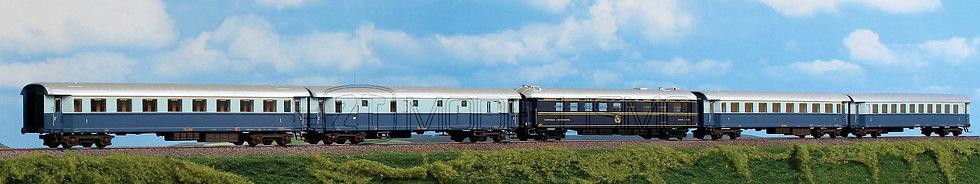 """ACME 55193 - Set di 5 carrozze FS """"Treno Azzurro"""" - H0"""