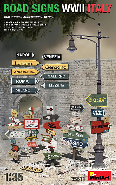MiniArt 35611 - ROAD SIGNS WWII ITALY - 1:35