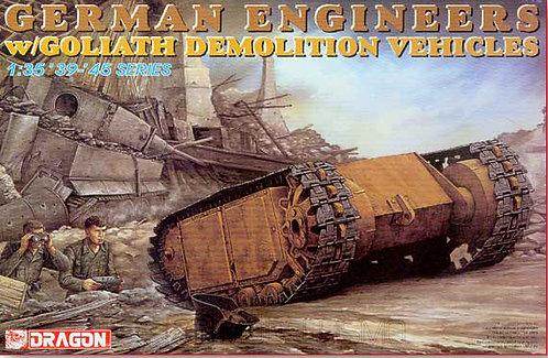 Dragon 6103 - German Engineers w/Goliath demolition vehicles  - 1:35