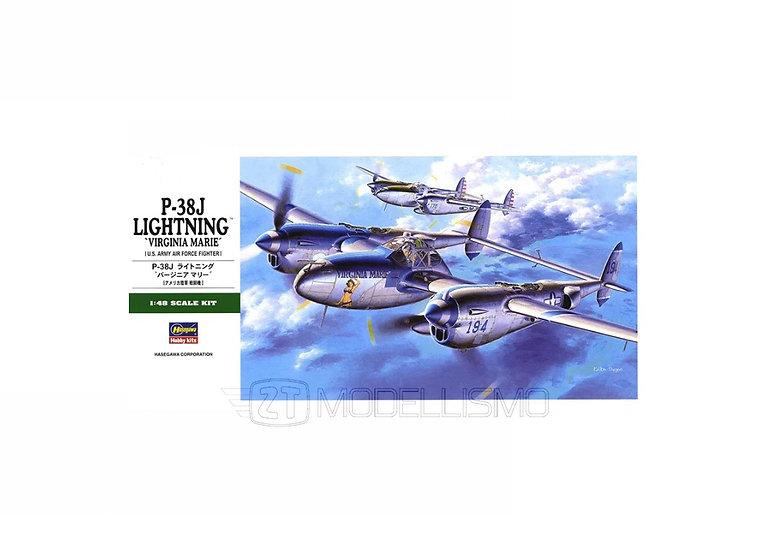 Hasegawa 09101 - P-38J Lightning 'Virginia Marie' - 1:48