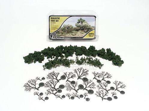 Woodland scenics TR1112 - Realistic tree kit, 6 deciduous