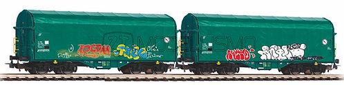 Piko 58379 - Set 2 carri FS-MIR tipo Shimmns - H0
