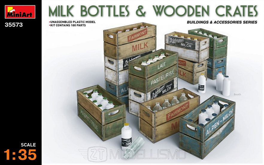 MiniArt 35573 - Milk bottles and wooden crates - 1:35