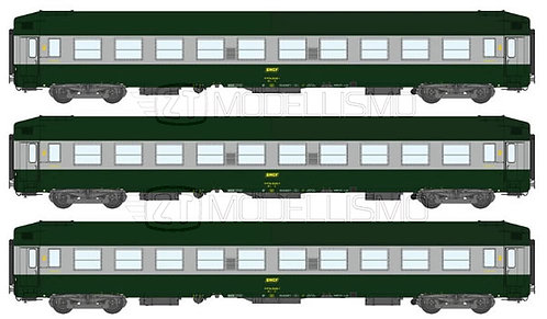 REE Modeles  VB-179 - Set di tre cuccette UIC B9C9x - H0