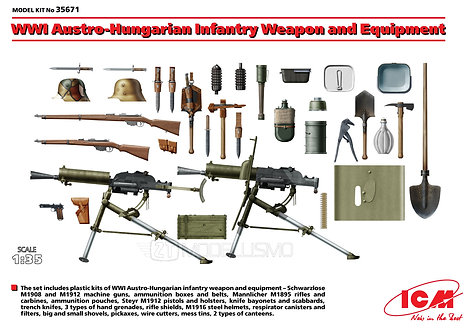 ICM 35671 - WWI Austro-Hungarian Infantry Weapon and Equipment - 1:35