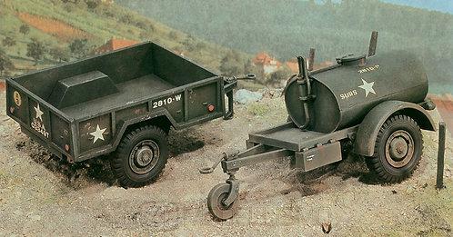 Italeri 229 - 250 gal.s Tank Trailer - M101 Cargo Trailer - 1:35
