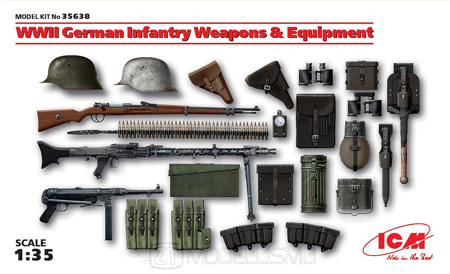 ICM 35638 - WWII German Infantry Weapons and Equipment - 1:35