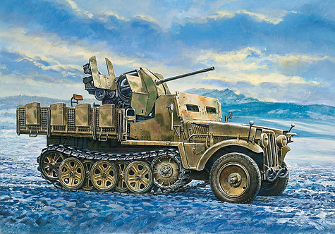 Italeri 371 - Sd. Kfz.10/5 Demag D7 with FLAK 38 - 1:35