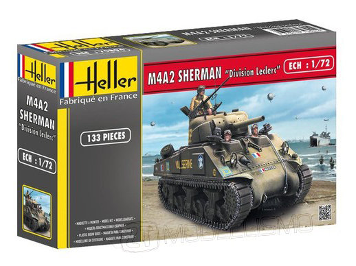 """Heller  - M4A2 Sherman """"Division Leclerc"""" - 1:72"""